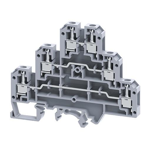 Three Level Feed through Terminal Blocks connectwell CTL2.5U