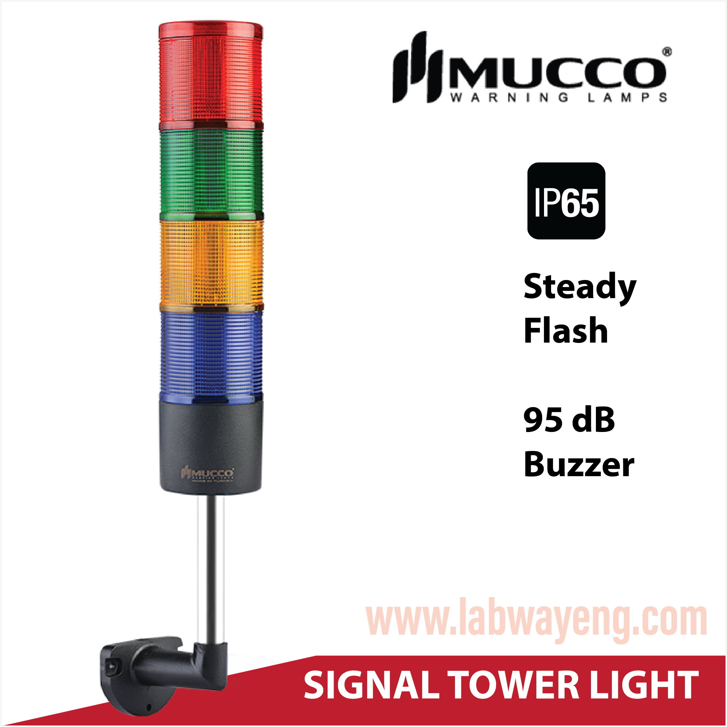 Tower light ,Tower light IP65 , Tower light กันน้ำ , Tower light Mucco 3 ชั้น , ไฟสัญญาณ ทาวเวอร์ไลท์ กันน้ำ 3 ชั้น ,ไฟสัญญาณเครื่องจักร